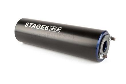 Stage6 StreetRace uitlaat blauw/zwart onderlangs Derbi Senda/AM6